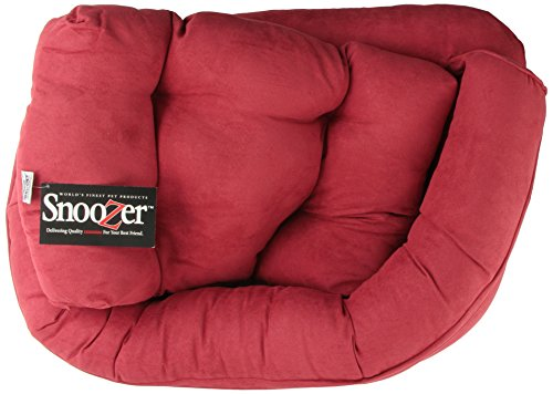 Snoozer Overstuffed Luxury Pet Sofa, Small, Red front-892341