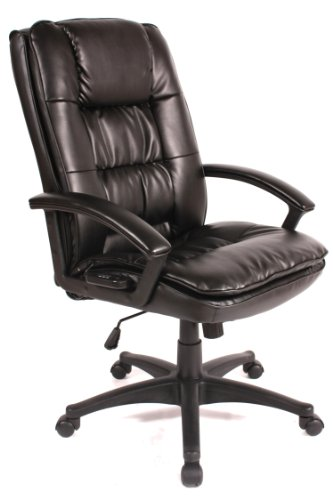 Comfort Products 60-6810 Leather Executive Chair with 5-Motor Massage, Black from Comfort Products