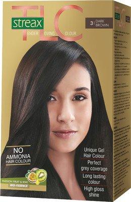 Streax Hair Colour Tlc Dark Brown No.3, 170ml