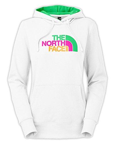 The North Face Women'S Half Dome Hoodie Tnf White / Surreal Green Multi Medium