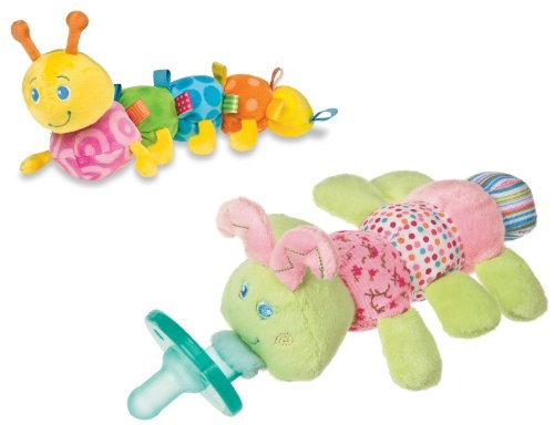 Mary Meyer Colours Soft Taggies Caterpillar & Wubbanub Pacifier front-586785