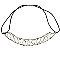 Tagoo Rhinestone Inlaid Teardrop Shaped Splicing Simple Hair Band Hat Band from Tagoo