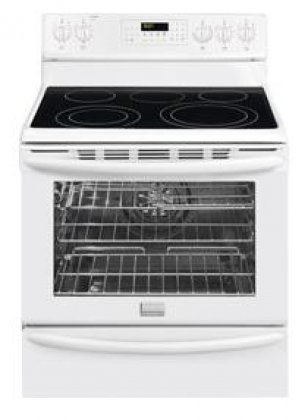 """Frigidaire Fgef3055Mw Gallery 30"""" White Electric Smoothtop Range - Convection"""