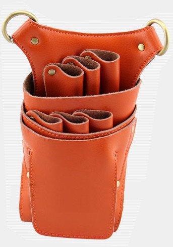 T&Y シザーケース 高級天然本革 美容師 トリマー プロ用 6丁入本 牛 革 シザーバッグ ケース TYー14ー007