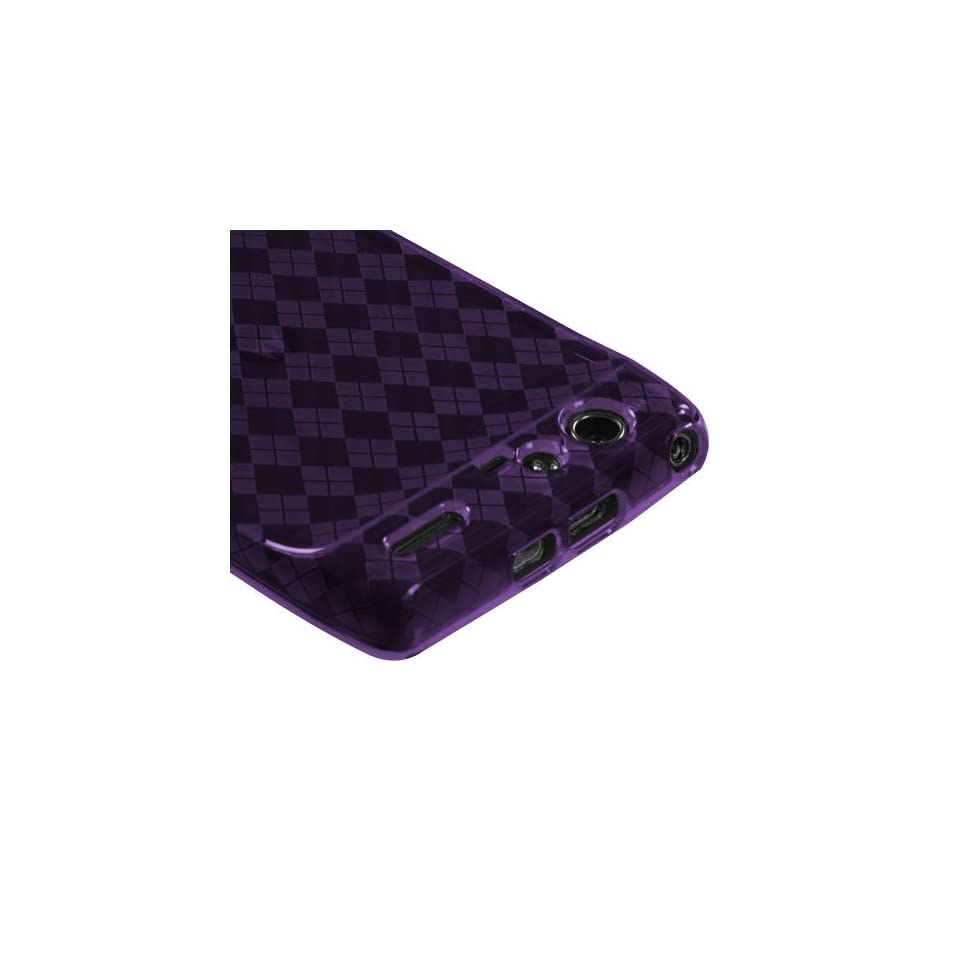 Purple Argyle Pane Candy Skin Cover For MOTOROLA XT912(Droid Razr) Verizon