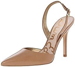Sam Edelman Women\'s Dora Dress Pump, Camel Leather, 8 M US