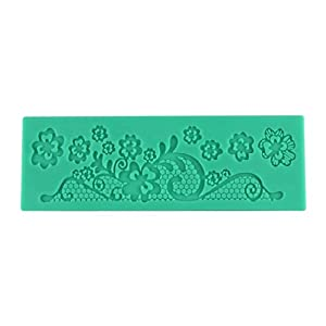 Voberry Kitchen Accessories Decorations For Cakes Fondant Flower Lace Cake Mold 6x17.7cm(4)