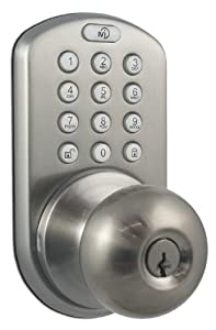 MiLocks DKK-02SN Electronic Touchpad Entry Keyless Door Lock, Satin Nickel