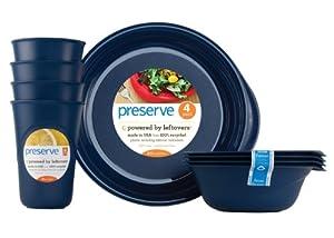 Preserve Everyday Tableware Set, Blue by Preserve