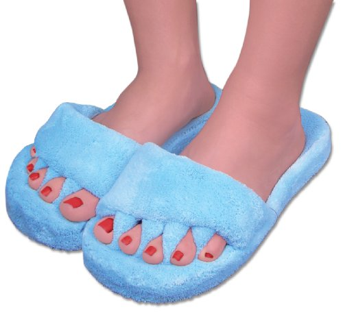 Cheap Comfy Toes – Comfy Feet Slippers (BLUE) – Rejuvenating House Slippers (WOMEN'S Slippers – SIZES 6-9) Helps relieve Foot Pain, Hammertoe relief, Bunion relief for your feet, and more! (B004GE5KZ6)