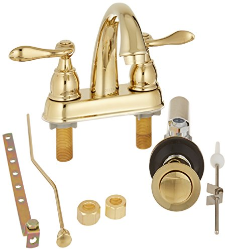 Delta Foundations B2596lf Pb Two Handle Centerset Lavatory Faucet Polished Brass Super Faucets
