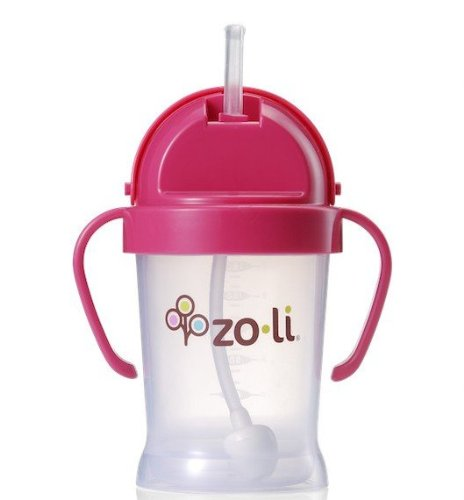 Imagen de Zoli BOT XL Straw Sippy Cup (Rosa) - 9 oz