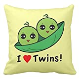 I Love Twins Two Peas In A Pod Throw Pillow Case Fashion Nice Cushion Cover