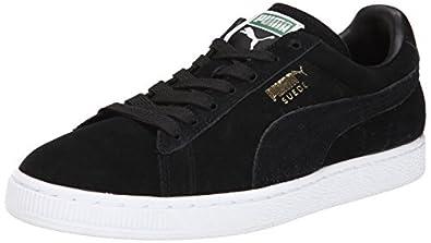 PUMA Suede Classic Sneaker,Black/Team Gold/White,4 M US