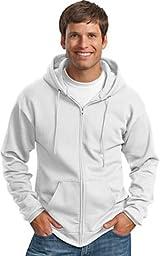 Port & Company Classic FullZip Hooded Sweatshirt-L (Charcoal),4X Big,White