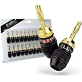 Deadbolt Banana Plugs, 12-pair, By Sewell Direct