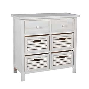commode campagnarde pour couloir meuble salle de bain dans le style shabby blanc avec 6. Black Bedroom Furniture Sets. Home Design Ideas