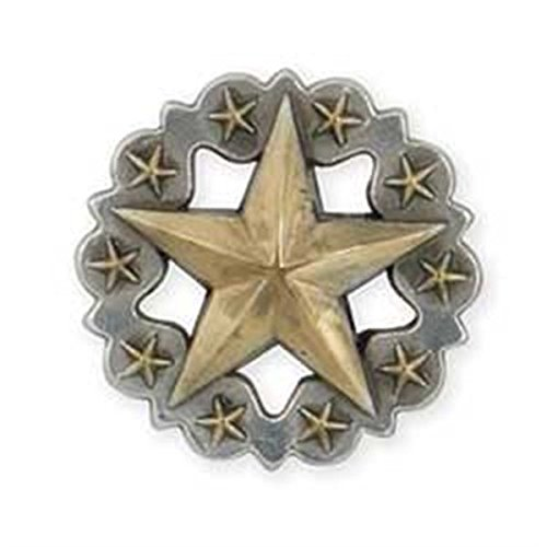 "Scalloped Star Concho 1-1/4"" (3.2 cm) Item #7766-10"
