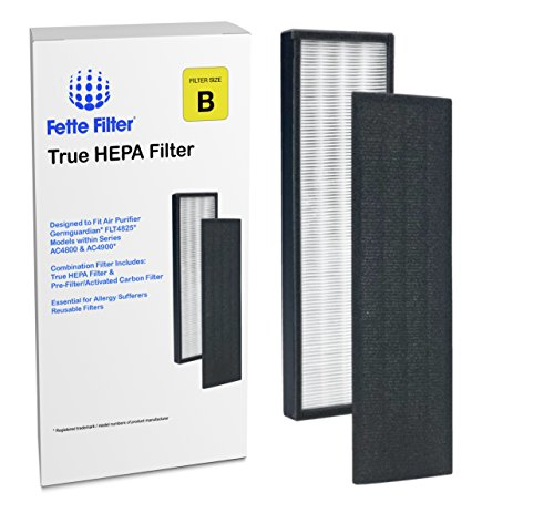 Fette Filter True HEPA Filter Compatiable with GermGuardian FLT4825 Filter B models AC4300/AC4800/4900 Series Air Purifiers