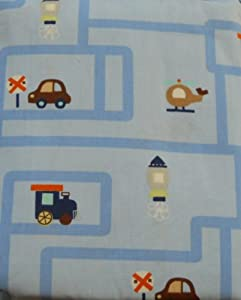 Circo Crib Sheet Transportation - Blue