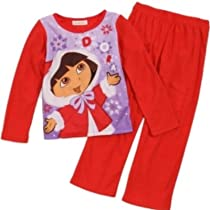 Dora the Explorer 2 Piece Sleepwear Set Long Sleeve Pajamas PJs