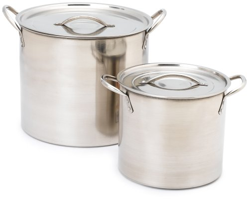 Imusa Stainless Steel Stock Pot, 20 Quart