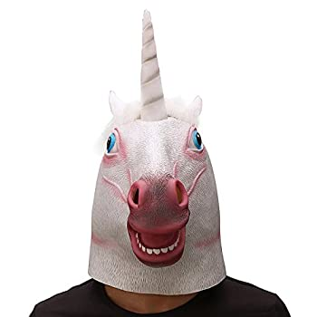 Ylovetoys Unicorn Head Mask Halloween Costume Party Novelty Latex Animal Mask