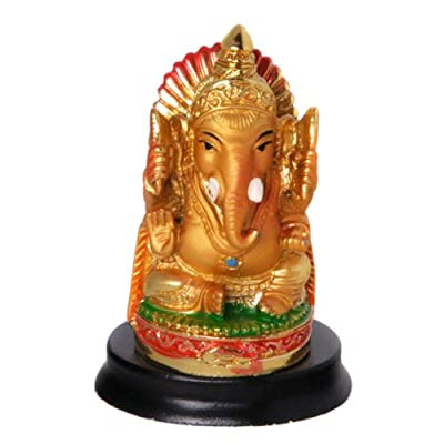 Mini Ganesh Statue on a Base, Great for Car
