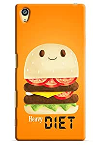 Omnam heavy diet burger printed with orange background for Sony Xperia Z5 Premium