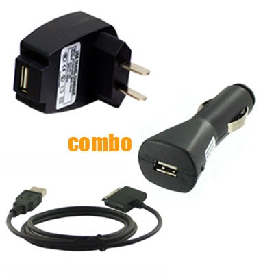 3 Piece Value Combo Accessory Bundle Kit: USB Car Charger + USB Travel Charger + USB Data Sync Cable for Sony Walkman NWZ - A716 A728 A729 A815 A816 A818 S615 S616 S618 E436 E438 S638 S736 S738 MP3 Player Series