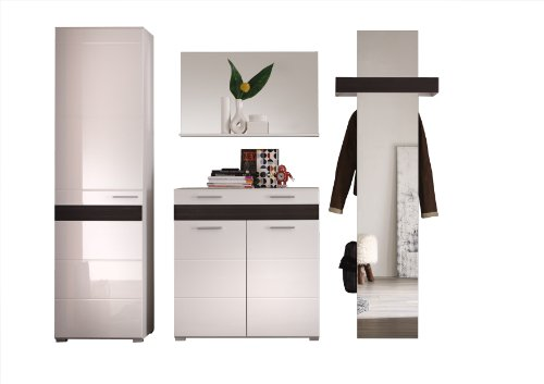 garderobe wei hochglanz preis vergleich 2016. Black Bedroom Furniture Sets. Home Design Ideas