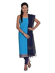 Platinum Present Cotton Women's Salwar Suit Dress Material Plain with Zari Border
