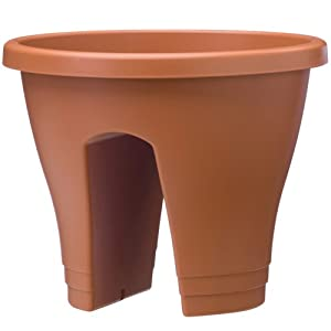 Exaco Corsica Flower Bridge Planter, Terra Cotta, 2-Per Pack