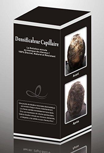 HAIR PLUS 30 G CHATAIN CLAIR Poudre densifiante masque la calvitie et cheveux clairsemés