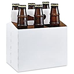 Six-Pack Beer Kraft Carrier and Holder for 6 x 12 Oz Bottles (Pack of 8)