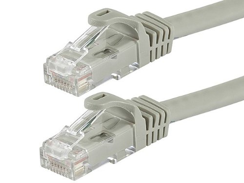 Monoprice 50-Feet FLEXboot Series 24AWG Cat6 550MHz UTP Ethernet Bare Copper Network Cable, Gray (109802)