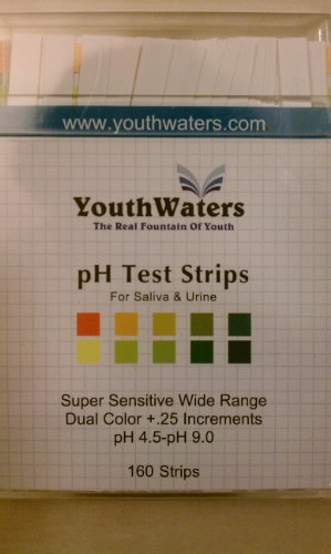 Ph Test Strips - Dual Color + .25 Increments for the Most Accurate Testing - Extra Sensitive. 160 Ct
