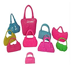 Generic 10pcs Doll Accessory Handbags Random color