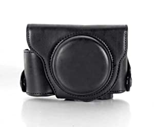 "RainbowImaging ""Ever Ready"" Protective Black PU Leather Camera Case , Bag for Panasonic LUMIX DMC-LX7"