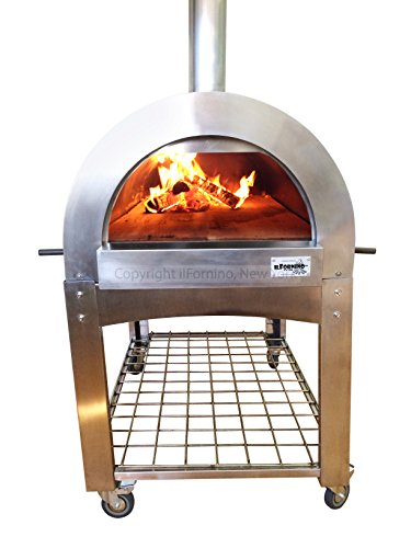 ilFornino Professional Series Wood Fired Pizza Oven - Thicker Gauge Stainless Steel- One-Flat-Cooking-Surface- Double Insulation (Pizza Ovens Wood Fired compare prices)