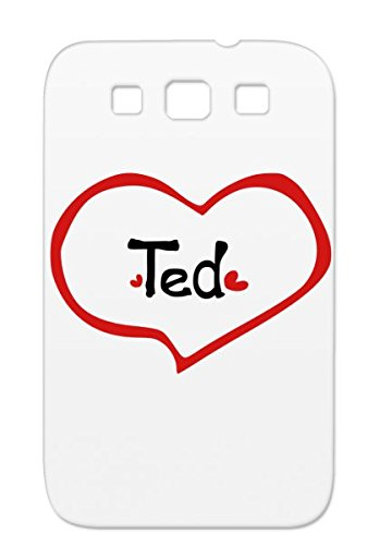 Name Ted Uniqu Graphic Art Ted Love Popular Romantic Heart Relationship Love Black Hearts Passion Heart Illustration Cute Hearts Line Txt Cool Name Red Awesome Nombre Black Cool Season Case Cover For Sumsang Galaxy S3 front-595851