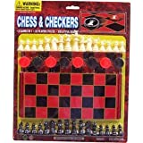 CLOSEOUT Chess and Checkers 6 Pcs Great Party F