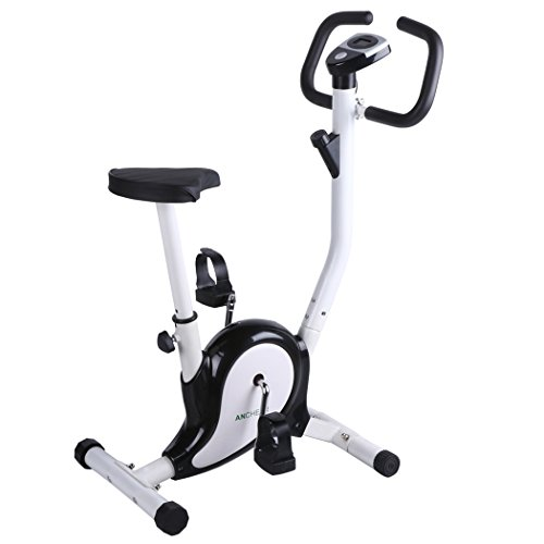For Sale! Ancheer Upright Bike Indoor Cycle Trainer Exercise Bike with LCD Display White