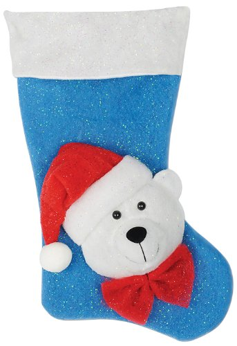 Light-Up Polar Bear Stocking (Requires 3 Aa Batteries Not Included) Party Accessory (1 Count) (1/Pkg)