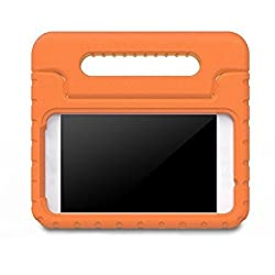 BMOUO Samsung Galaxy Tab E Lite 7.0 inch Kids Case - ShockProof Case Light Weight Kids Case Super Protection Cover Handle Stand Case for Children for Samsung Galaxy Tab E Lite 7-Inch Tablet - Orange