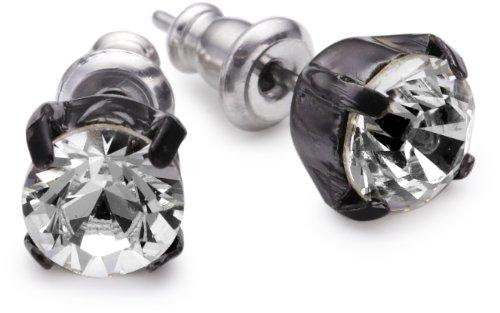 PILGRIM 247-023 Ohrring, Schwarzmetal, kristall