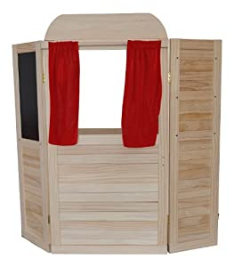 kaufmannsladen kaufladen incl namen aus holz als theater kasperletheater kaspertheater. Black Bedroom Furniture Sets. Home Design Ideas