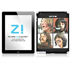 Zing Revolution The Beatles Premium Vinyl Adhesive Skin for iPad 2/iPad 4, Let It Be Image, MS-BEAT50351