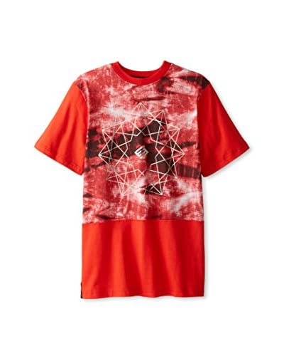 Enyce Men's Anguilla All Over Print Crew Neck Short Sleeve Tee