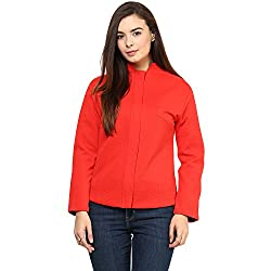 RARE Full Sleeve Solid Red Women's Jacket